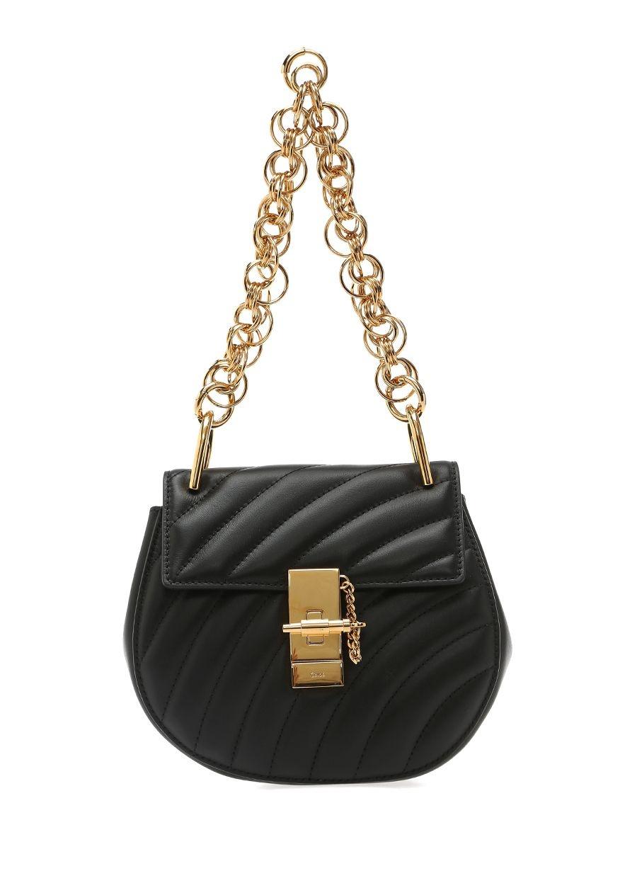 Chloe  Drew Mini Siyah Kadın Deri Çanta