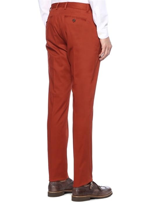 Turuncu Normal Bel Boru Paça Pantolon