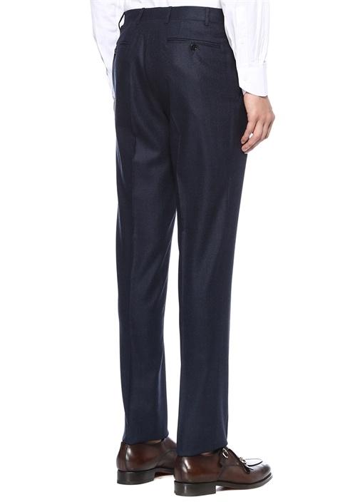 Drop 6 Lacivert Normal Bel Dokulu Yün Pantolon