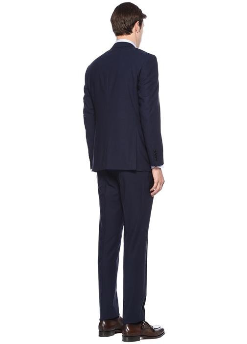 Drop 6 Lacivert Dokulu Yün Takım Elbise