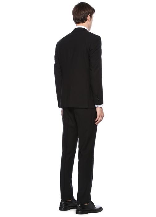 Drop 6 Siyah Dokulu Yün Takım Elbise