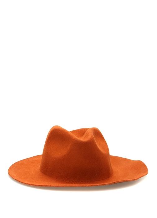 Turuncu Erkek Yün Şapka