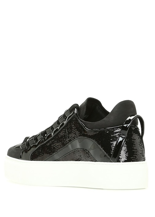 Siyah Pullu Kadın Sneaker