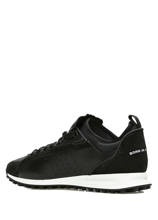 2Run Siyah Erkek Deri Sneaker