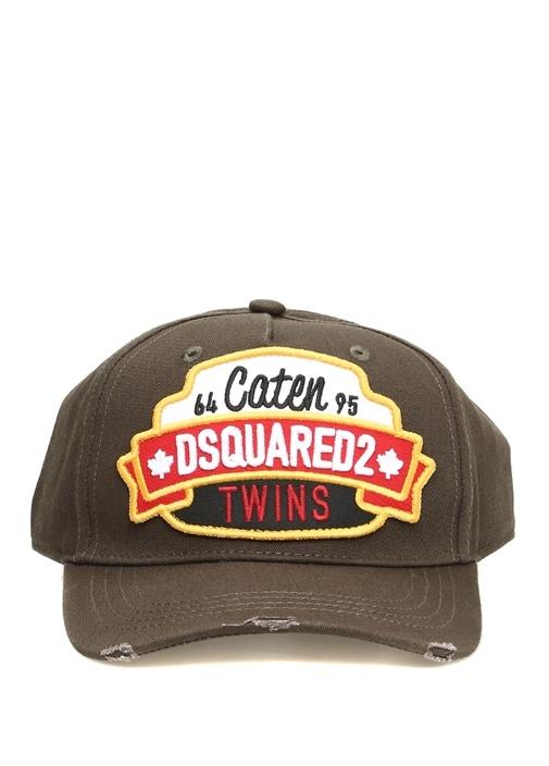 Caten Twins Haki Patchli Erkek Şapka