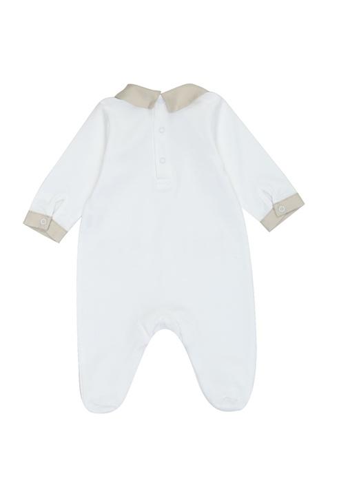 4lü Beyaz Bej Biyeli Erkek Bebek HediyeSeti