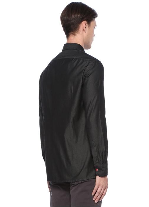 Antrasit Polo Yaka Cepli Gömlek