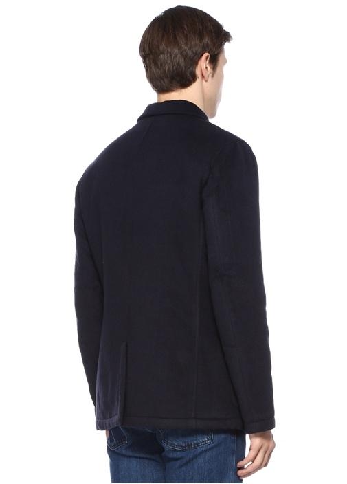Lacivert İngiliz Yaka Yün Ceket
