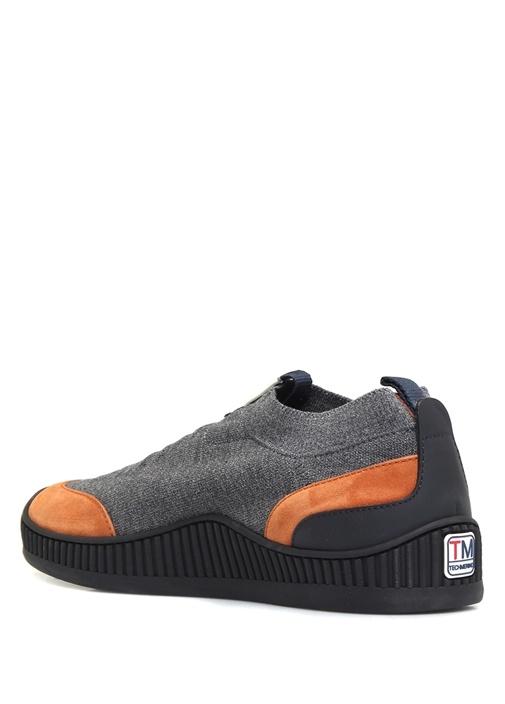Gri Turuncu Çorap Formlu Erkek Sneaker