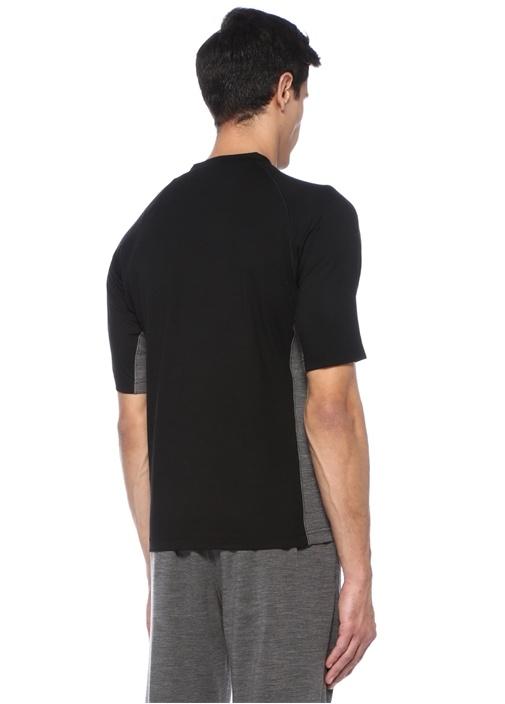 Siyah Techmerino Özellikli T-shirt