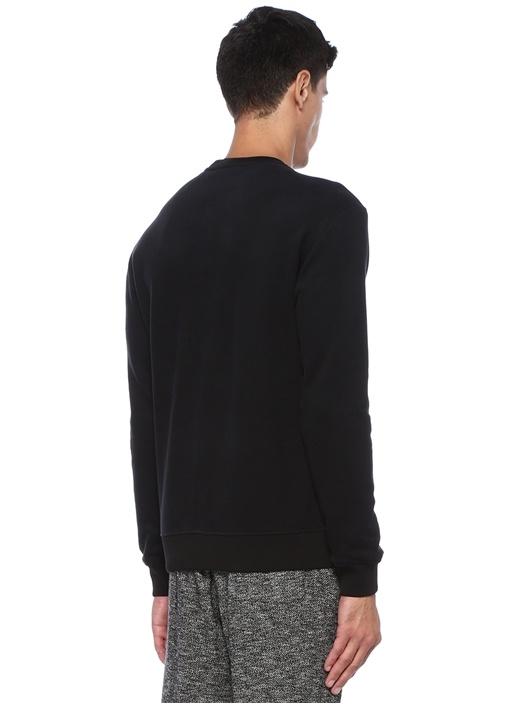 Siyah Logo Patchli Sweatshirt