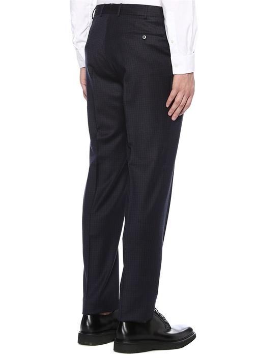 Drop 6 Lacivert Mikro Desenli Yün Pantolon