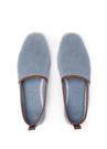 Mavi File Dokulu Erkek Deri Loafer