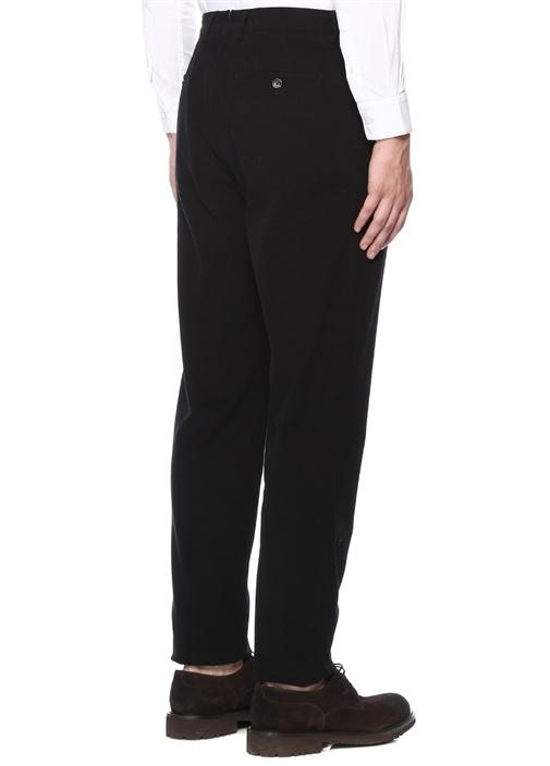 Siyah Normal Bel Kanvas Pantolon