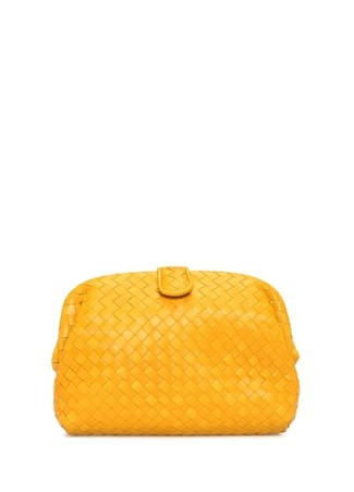 Bottega Veneta Kadın Sarı Örgü Dokulu Deri El Portföyü Ürün Resmi