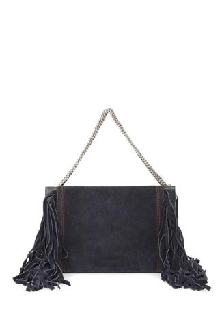 Givenchy Kadın Croos 3 Lacivert Püskül Detaylı Süet Çanta Ürün Resmi