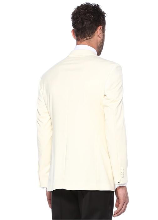 Drop 7 Şal Yaka Beyaz Ceket