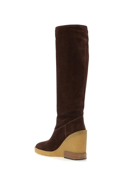 Kahverengi Kadın Süet Çizme