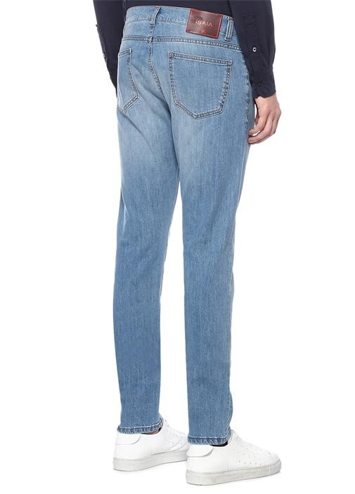 Slim Straight Fit Mavi Dar Paça Jean Pantolon