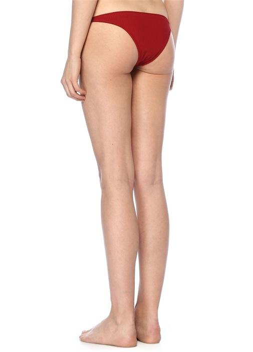 Rapture Kırmızı Bağcıklı Ribli Bikini Altı
