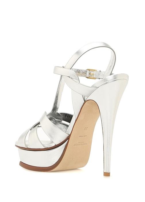 Ruganda Silver Kadın Deri Sandalet