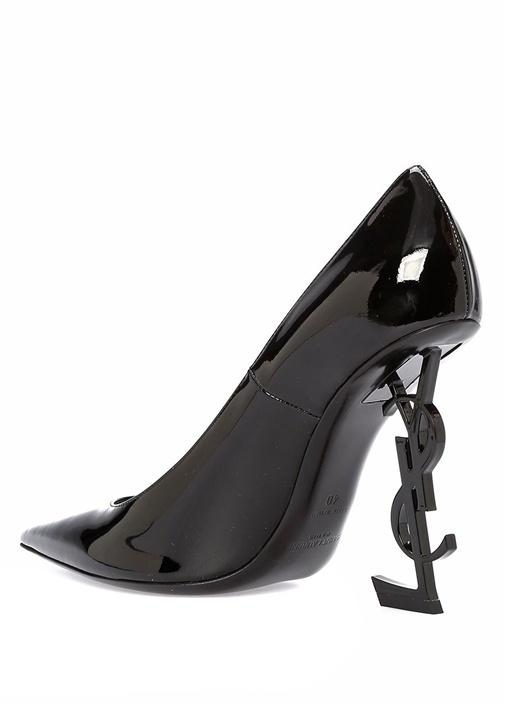 Opyum 110 Siyah Logo Topuklu Stiletto