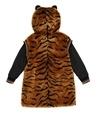 Kahverengi Kaplan Detaylı Kız Çocuk Peluş Ceket