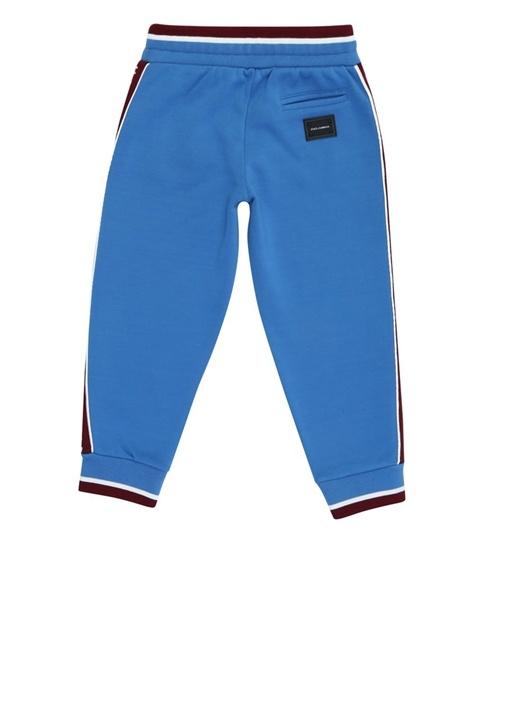 Mavi Bordo Kenarları Logolu Erkek ÇocukEşofman