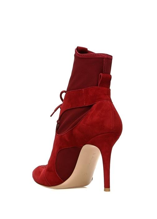 Jenna Kırmızı Garnili Kadın Süet Bot