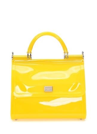 Dolce&Gabbana Kadın Sicily ransparan Sarı Logolu Çanta Ürün Resmi