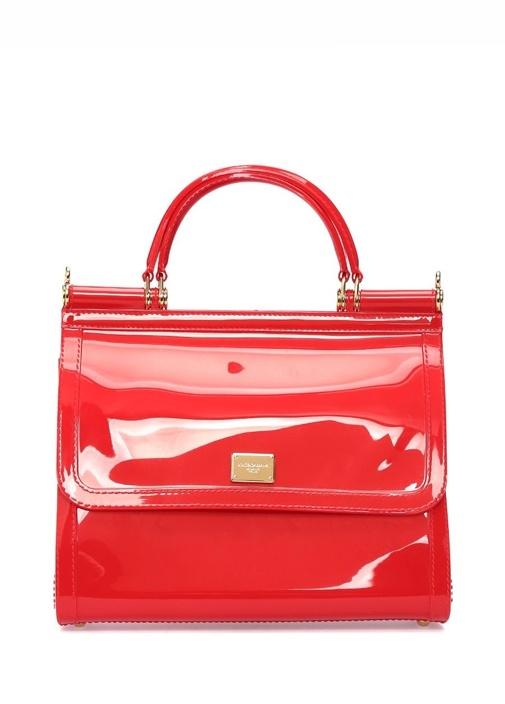 Sicily Transparan Kırmızı Kadın Çanta