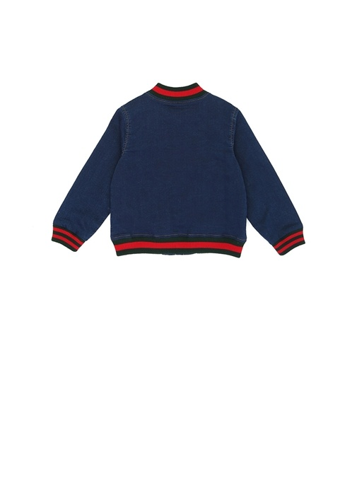 Mavi Dik Yaka Erkek Bebek Denim Ceket