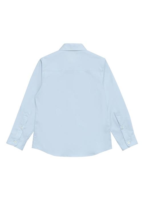 Mavi Polo Yaka Şeritli Cepli Erkek Çocuk Gömlek