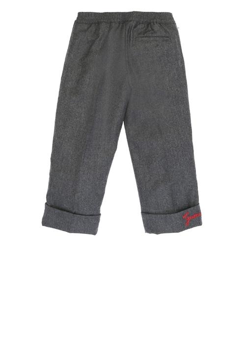 Antrasit Paça Detaylı Erkek Çocuk Yün Pantolon
