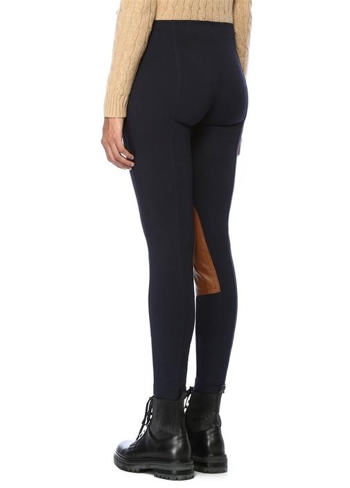 Lacivert Normal Bel Patchli Streç Pantolon