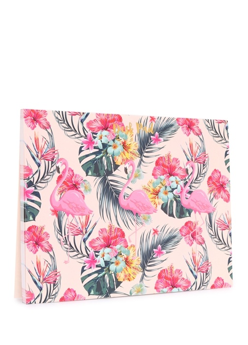 Palm Springs Pembe Flamingo Baskılı Organizer