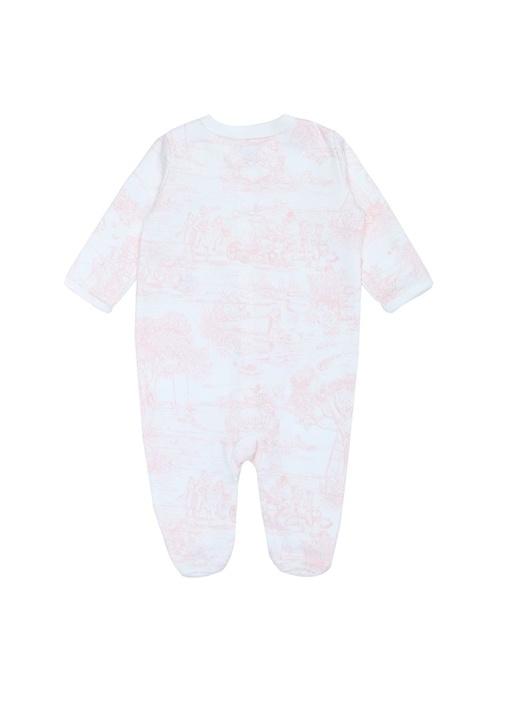 Beyaz 3lü Desenli Logolu Kız Bebek Hediye Seti