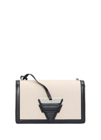 Loewe Kadın Vizon Siyah Şerit Detaylı Deri Çanta Haki Ürün Resmi