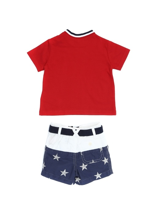 Kırmızı Beyaz Yıldızlı Erkek Bebek ŞortTakımı