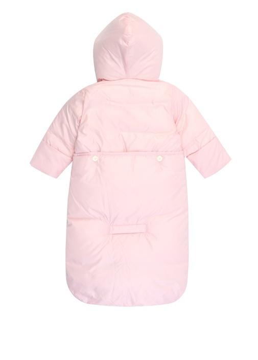 Convert Pembe Kapüşonlu Kız Bebek Tulum