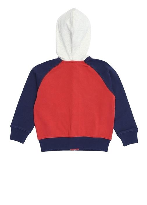 Kırmızı Lacivert Logolu Erkek Çocuk Sweatshirt