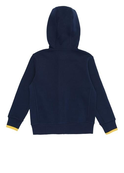 Lacivert Kapüşonlu Logolu Erkek Çocuk Sweatshirt