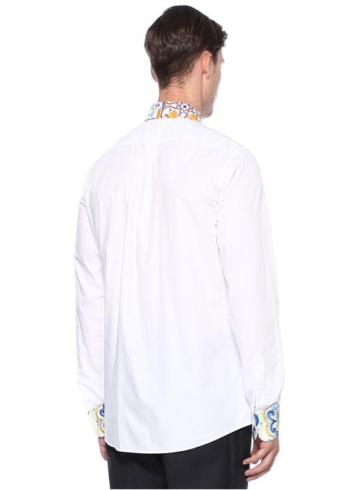 Beyaz Yaka Detaylı Gömlek