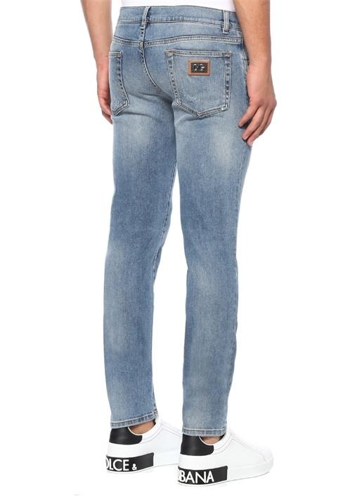 Gold Mavi Yıpratma Detaylı Jean Pantolon