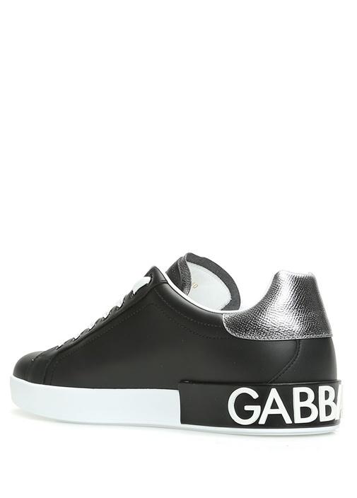 Portofino Siyah Silver Erkek Deri Sneaker