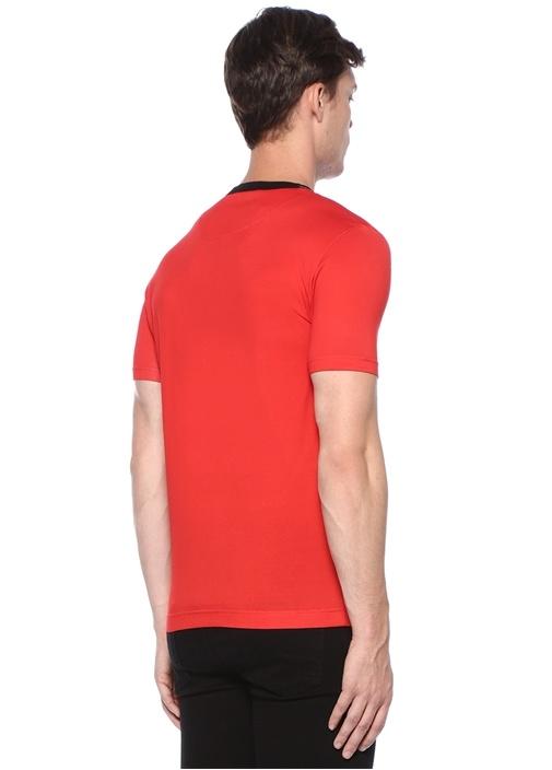 Kırmızı Logo Baskılı T-shirt