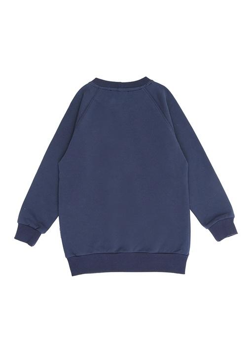 Devan Mavi Yazı Baskılı Erkek Çocuk Sweatshirt