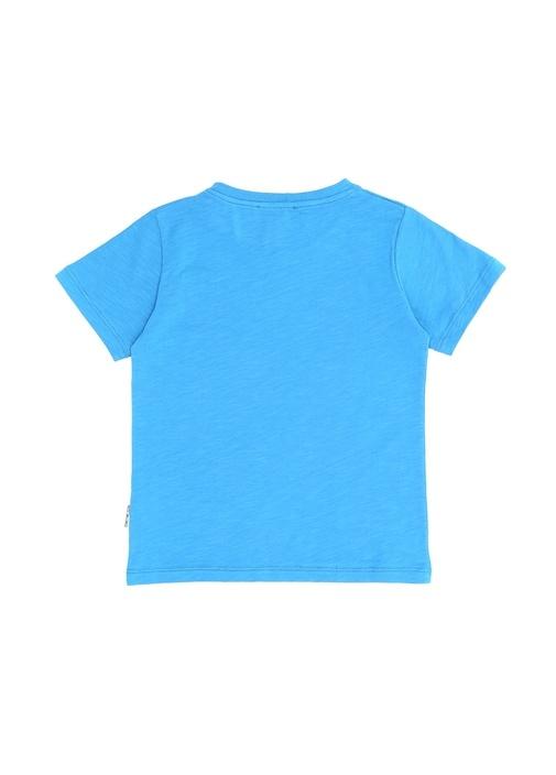 Change Mavi Yazı Baskılı Erkek Çocuk T-shirt