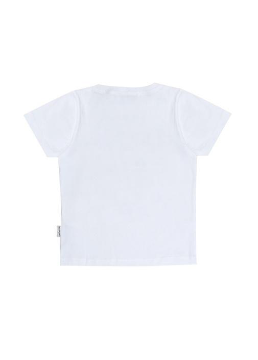 Beyaz Yazı Baskılı Erkek Çocuk T-shirt