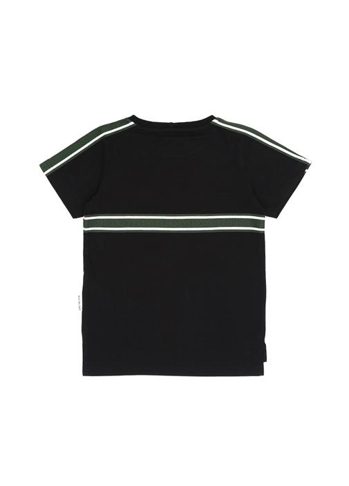 Siyah Şerit Detaylı Erkek Çocuk T-shirt